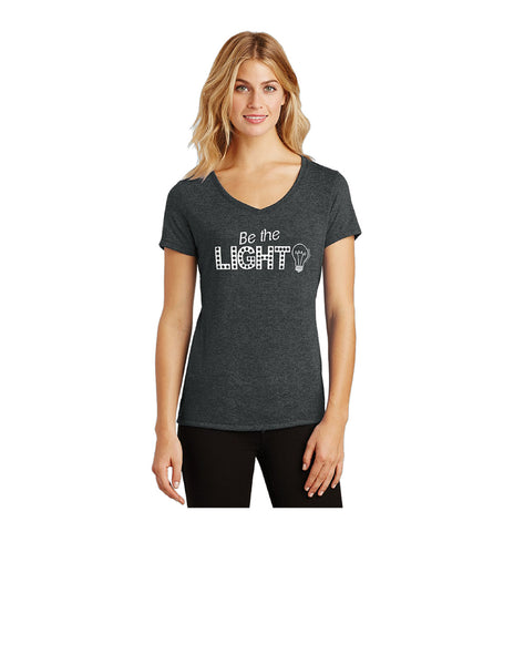 Be The Light - Matthew 5:14 - Tri Blend V-Neck T-Shirt