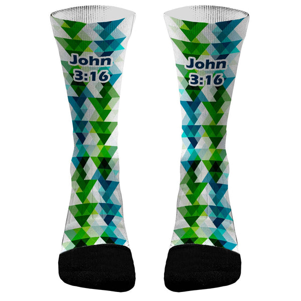 John 3:16 Prism Custom Compression Dri-Fit Socks