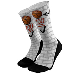 Basketball Emoji Custom Compression Dri-Fit Socks