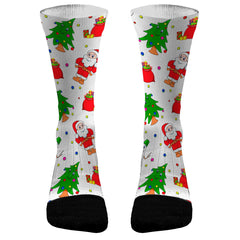Christmas Socks Ugly Sweater Santa Custom Dri-Fit Athletic Compression Socks 2020 Christmas Gifts