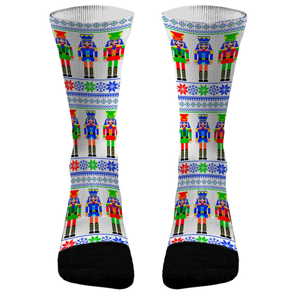 Christmas Socks Christmas Nutcracker Custom Dri-Fit Athletic Compression Socks Fun Socks