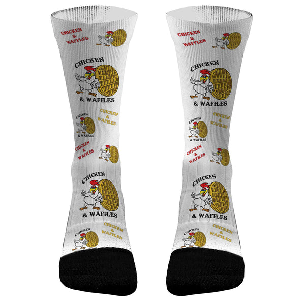 Chicken and Waffle Athletic Compression Dri-Fit Socks Chicken and Waffle Socks