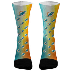 Miami Dolphins Athletic Compression Dri-Fit Socks Dolphins Socks