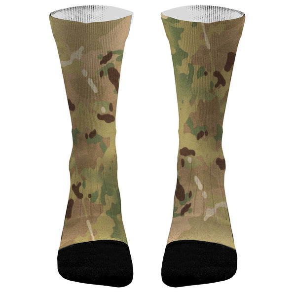 Camouflage Socks Camo MultiCamo Athletic Compression Socks