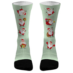 Christmas Santas Custom Dri-Fit Athletic Compression Socks