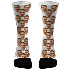 2 Faces Face Socks Picture Socks Dri Fit Athletic Compression Socks Personalized Face Socks Custom Human Face Socks Custom Socks