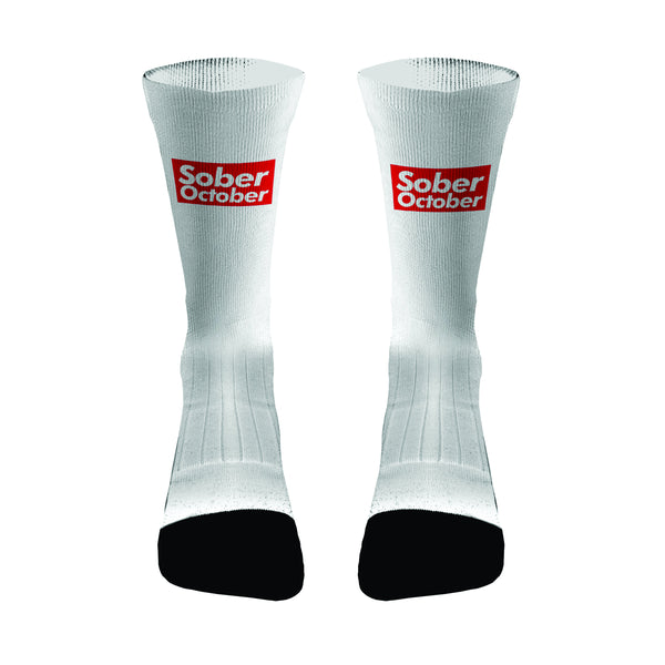 Sober October Compression Dri-Fit Socks