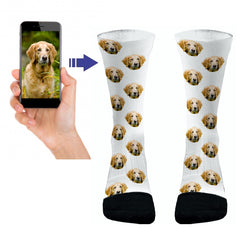 Your Pets Picture Socks Dri Fit Athletic Compression Socks Dog Socks Cat Socks Custom Pet Socks