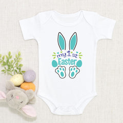 My First Easter Onesie Bodysuit 1st Easter Bunny Onesie Fun Easter Baby Gift