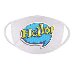 Funny Hello Face Mask Fun Face Mask Quarantine Face Mask