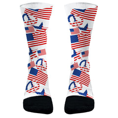 American Flag Socks Peace Sign Flag Socks 4th of July Socks American Flag 4th of July Gift