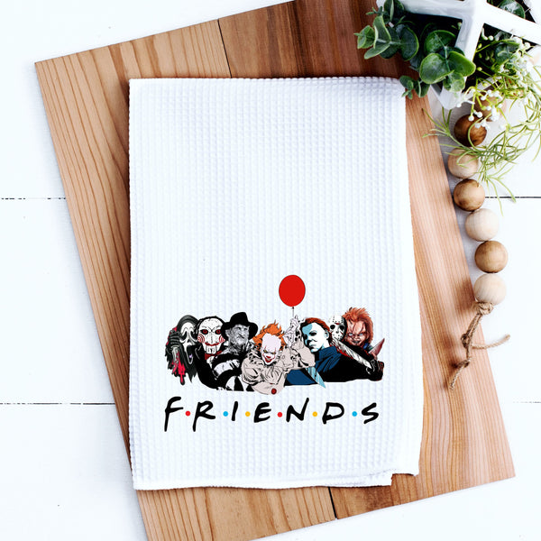 Friends Kitchen Towel Friends TV Show Kitchen Towel Waffle Weave Friends Halloween Kitchen Towel Funny Halloween Kitchen Towel