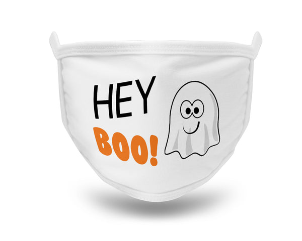Halloween Face Mask Hey Boo Face Mask Hey Boo Halloween Mask Cute Ghost Halloween Face Mask Washable Mask 2-ply Face Mask