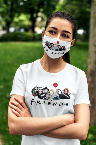 Friends Halloween Shirt and Mask For Women Friends TV Show Halloween T-Shirt and Mask Gift Halloween Gift Set