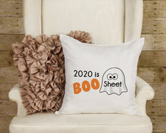 "Halloween Pillow 2020 is BOO Sheet Pillow Cover 16"" x 16"" Inch Ghost Pillow Sham Funny Halloween Pillow Decorative Pillow Cover ONLY"