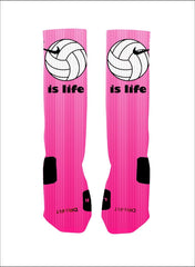 Volleyball is Life Custom Nike Elite Socks