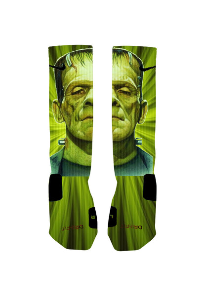 Frankenstein Socks Custom Halloween Nike Elite Socks