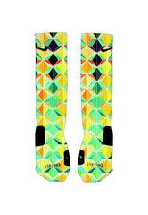 Colorful Geometric Custom Nike Elite Socks