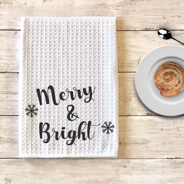 Merry and Bright Christmas Kitchen Towel