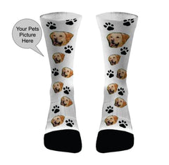 Your Pets Picture with Paws Socks Dri Fit Athletic Compression Socks