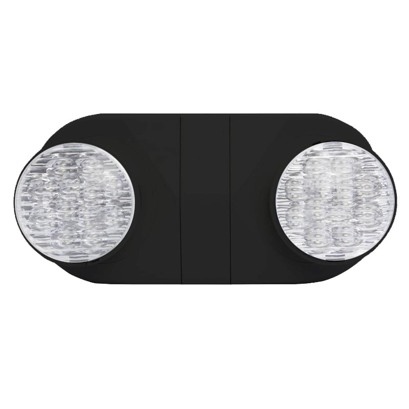 LED Standard Emergency Unit with Round Lights -Black Short Body