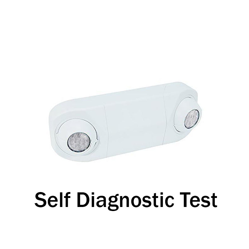 MR16 Emergency Spot Light-White Body - Self Diagnostic Test