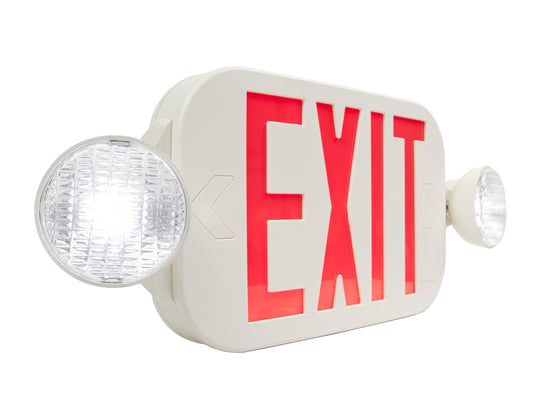LED Exit Emergency Light Compact Combo