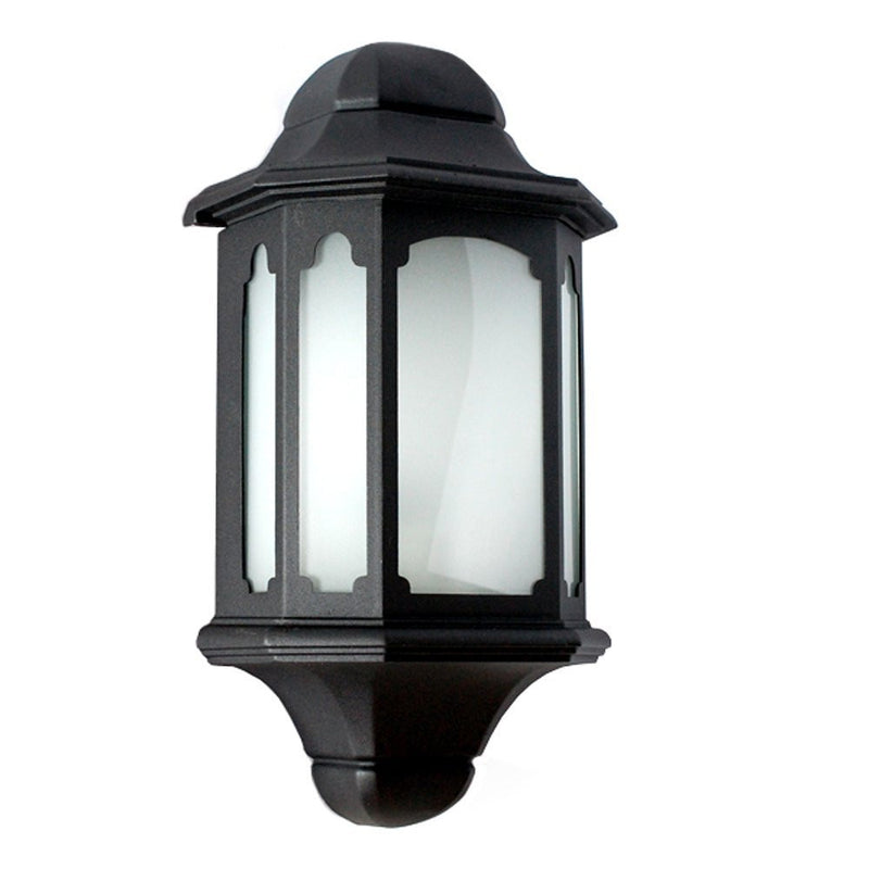 eTopLighting Vivian Collection Wall Lantern Outdoor with Frost Glass