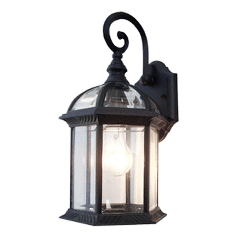 Contemporary Collection Exterior Outdoor Wall Lantern with Beveled Clear Glass