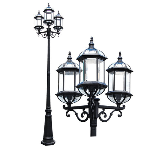 "eTopLighting Contemporary Collection Exterior Outdoor 92"" Post Lantern with Beveled Clear Glass APL1022"