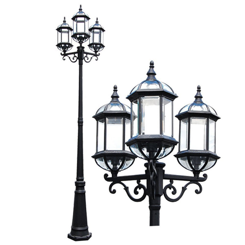 "Contemporary Collection 92"" Post Lantern with Beveled Clear Glass"