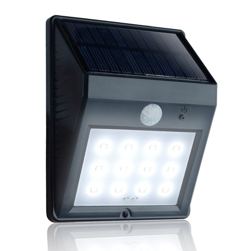 eToplighting 12 LED Super Bright Solar Power Weatherproof Motion Sensor LED Light