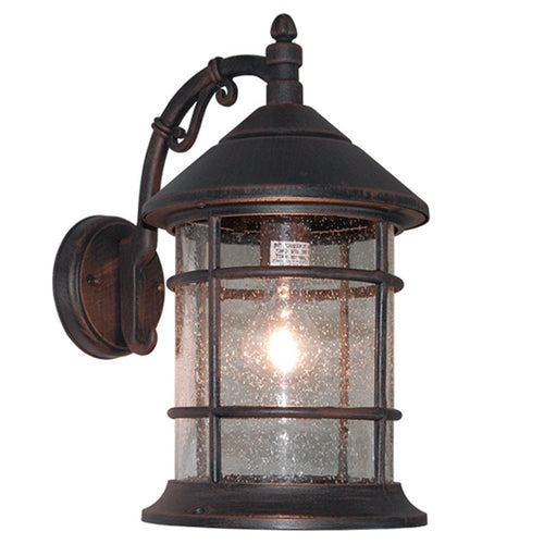 eTopLighting Bella Luce Collection Exterior Wall Lantern with Clear Seeded Glass