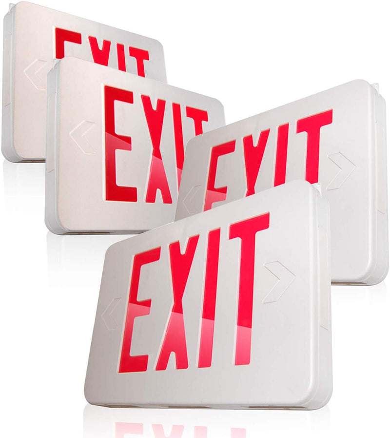 eTopLighting [4 Pack] LED Exit Sign Emergency Light Lighting Emergency LED Light/Battery Back-up/Red Letter, SRE1184