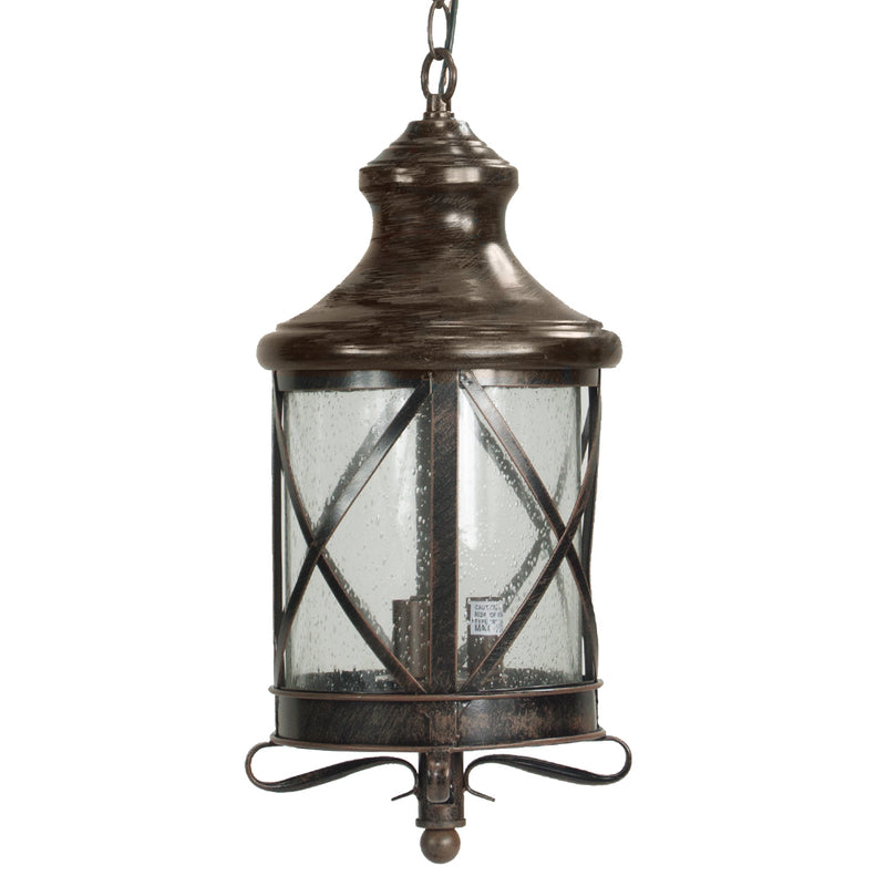 Lux Collection Exterior Outdoor Lantern Light with Rain Glass, Pendant Light