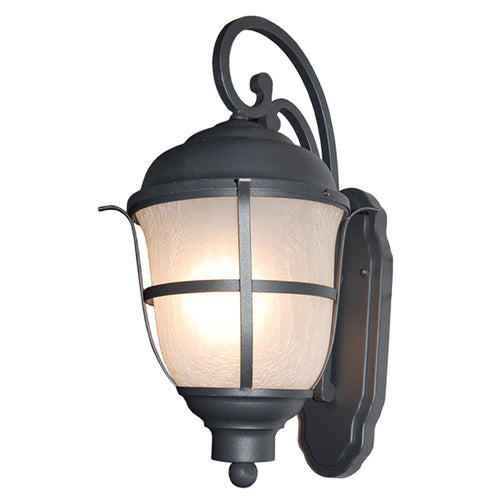 Greek Collection Outdoor Wall Lantern with Frost Cracked Glass