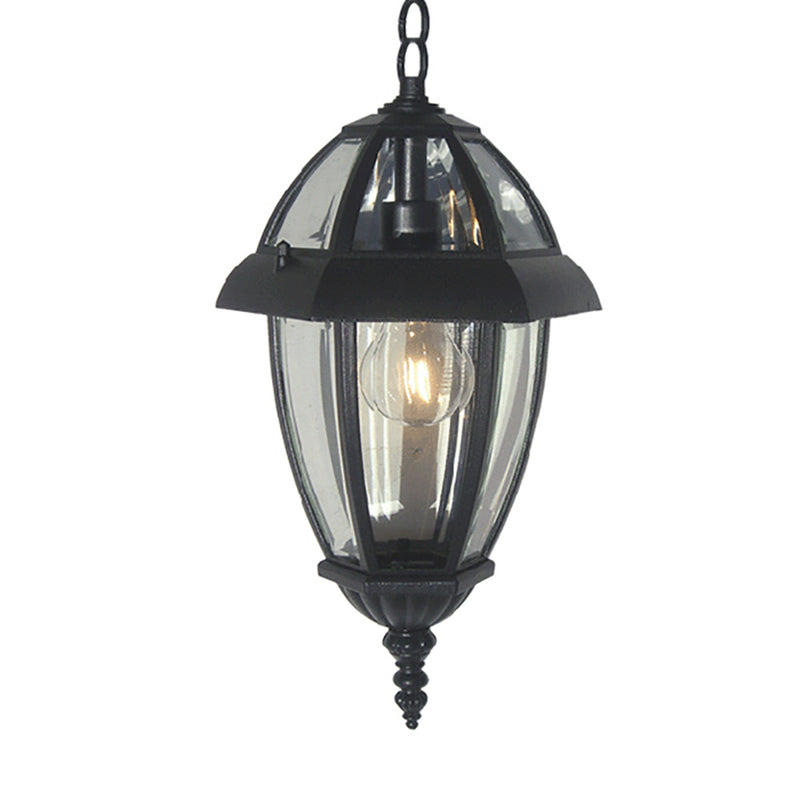 Nuevo Collection Lantern Light with Clear Glass, Pendant Lantern