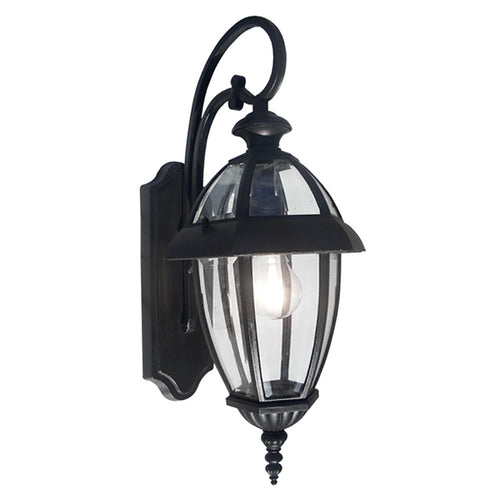 Nuevo Collection Exterior Outdoor Wall Lantern with Clear Glass