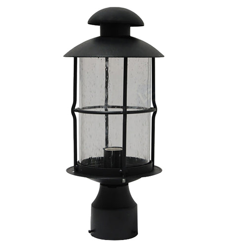 La Vita Collection Lantern Light with Seeded Glass, Post Light