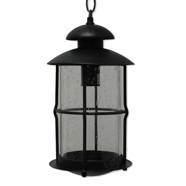 La Vita Collection Outdoor Lantern Light with Seeded Glass, Pendant Light