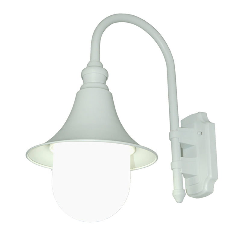 Modello Collection Matt White Outdoor Wall Lantern with Safe Clear Acrylic