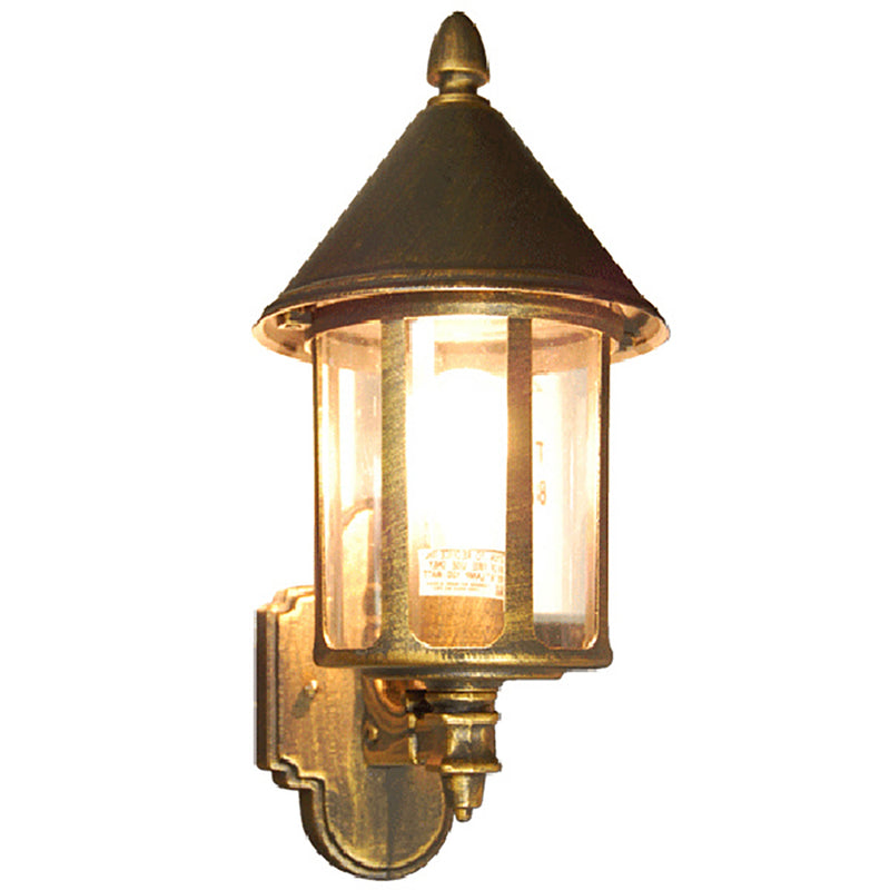 Chanterelle Collection Oil Rubbed Golden Black Finish Outdoor Wall Lantern with Safe Glass