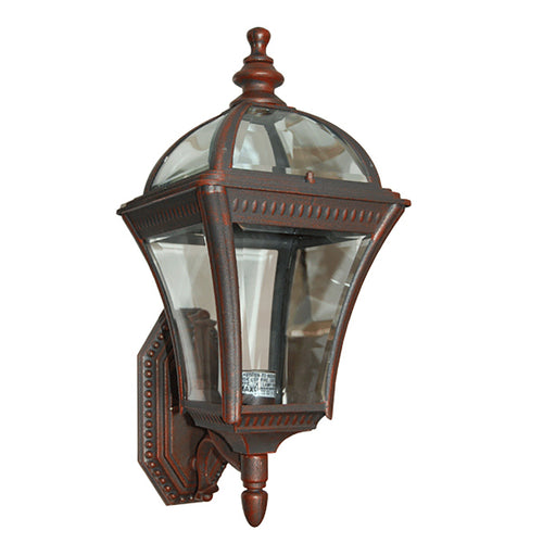 Le Affinage Collection Oil Rubbed Rustic Finish Wall Outdoor Lantern with Beveled Glass