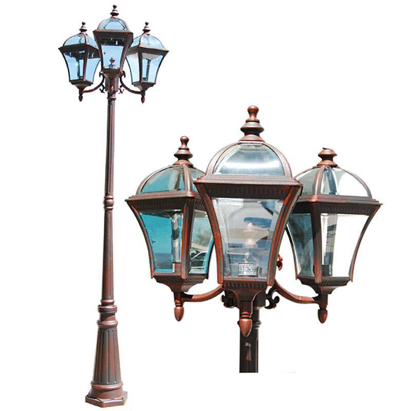 "Le Affinage Collection 91"" Outdoor Post Lantern Light Beveled Glass"