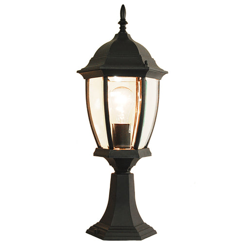 Contempo Collection Outdoor Lantern Post Light with Beveled Glass
