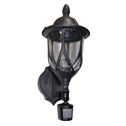 Vogue Collection Oil Rubbed Matt Black Finish Outdoor Wall Lantern with Motion Sensor