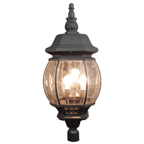La puissance Collection Oil Rubbed Black Finish Outdoor Post Pillar Lantern Light