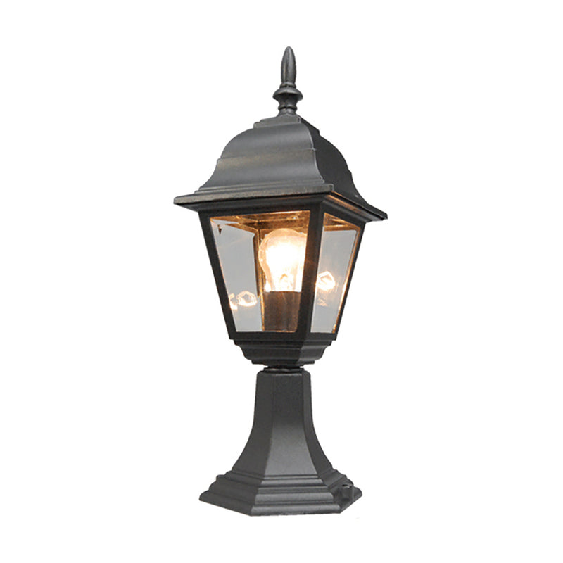 Pandora Collection Outdoor Post Lantern Light w/ Clear Glass