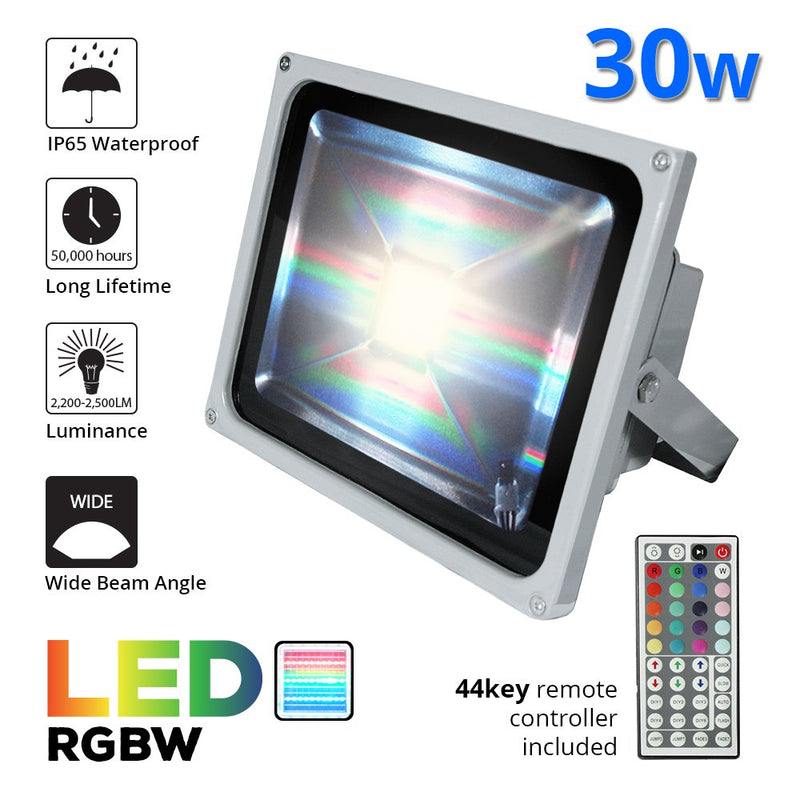 ETOPLIGHTING RGB LED Flood Changing Light, Outdoor Waterproof Remote Control Flood W/Cord and Plug , SRE1365