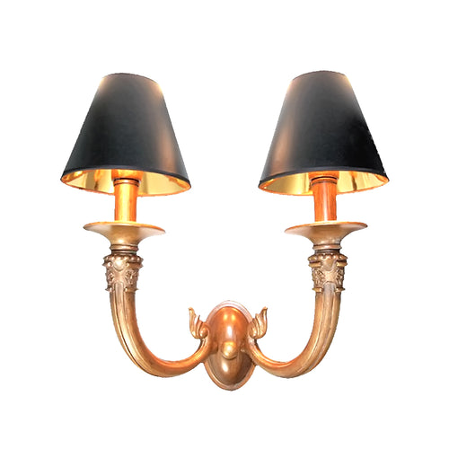 Le Champignon Collection Bell Shade Wall Light, Two-Bell